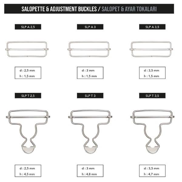 - Salopette & adjustment buckles, SLP