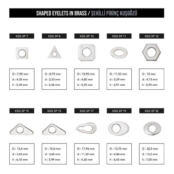 - Shaped eyelets, KSG SP